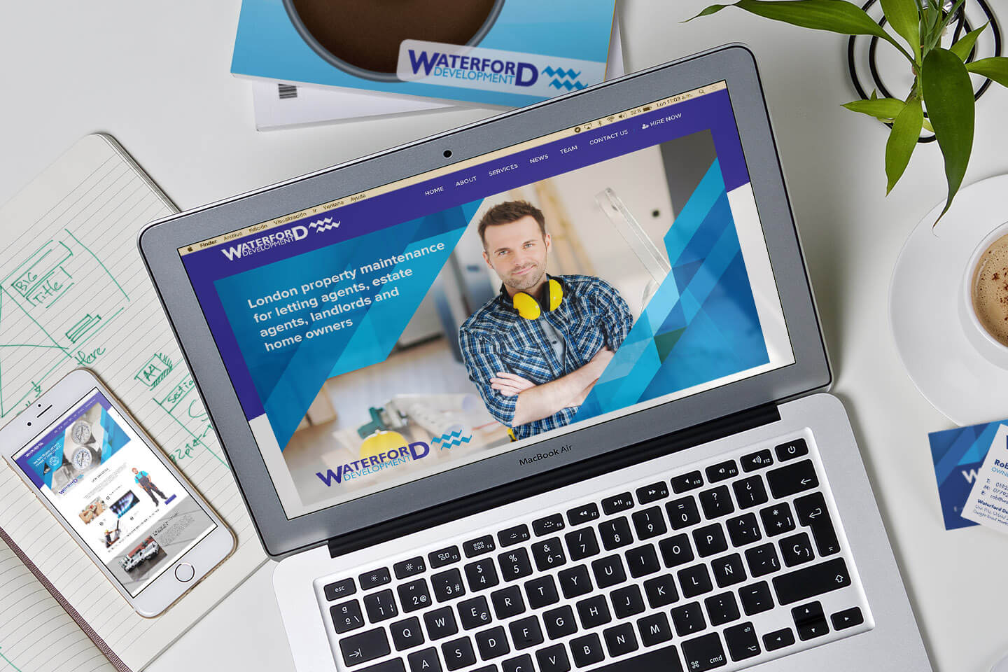 Waterford Case Study Website visual