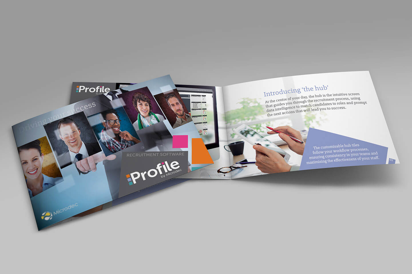 Microdec case study Profile promotional brochure visual